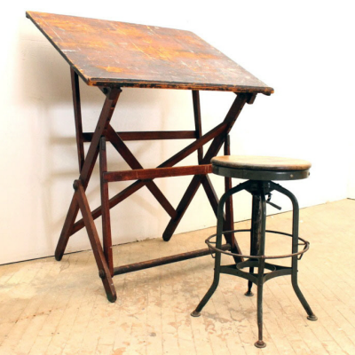 Vintage Drafting Table Designs: A 19th-Century Company Working Out the Details