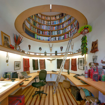 Modern-Day Indiana Jones' Unusual Home Library Design