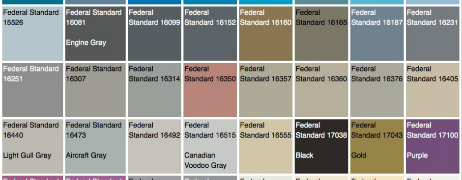 The Us Government Has Their Own Official Color System Core77