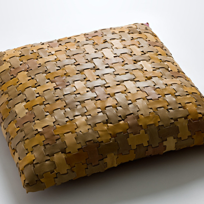 Eye-Catching Pillows Made from Leather Waste