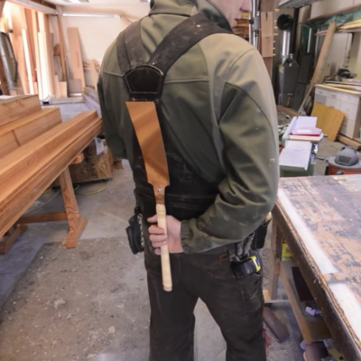 The Samurai Carpenter Shows You How He Made His Functional, Ergonomic Leather Tool Vest—On the Cheap