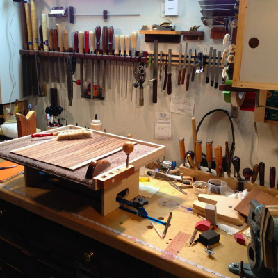 Workspace Challenge Photo Contest, 4th Place: Mark Roberts, the Luthier