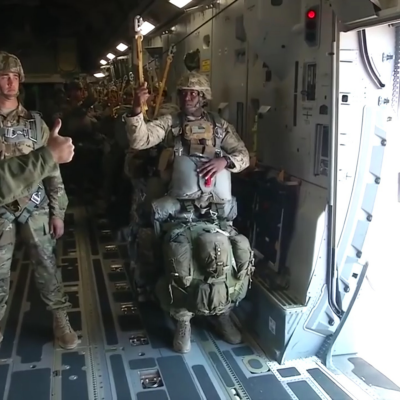 How Much Weight Soldiers Carry, and Incredible POV Footage of a Massive Paratrooper Drop - Core77