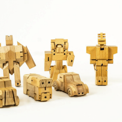 WooBots: Transformer Robots Made Entirely From Wood