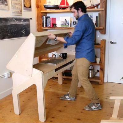 Home Office Happy Hour: A Desk That Transforms Into a Bar