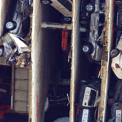 Real Life Cutaways: Here's How You Saw a 50,000-Ton Ship Carrying 2,800 Cars Into Slices (With the Cars Still Inside)