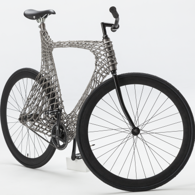 Robots 3D Print a Stainless Steel Bicycle Designed by Students from TU Delft