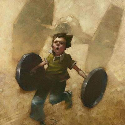 Craig Davison's Wonderful Childhood Fantasy Paintings
