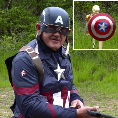 guy creates captain america s shield out of titanium tests it against real 45 caliber bullets core77 guy creates captain america s shield