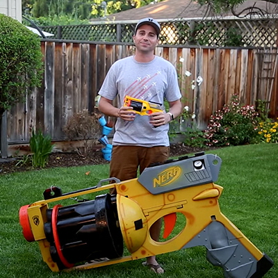Former NASA Engineer is Not Messing Around, Builds World's Largest Nerf Gun