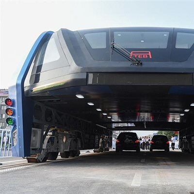 China Actually Builds That Transit Elevated Bus Concept!