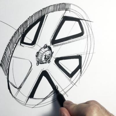 Sketching a Five-Spoke Wheel - Core77