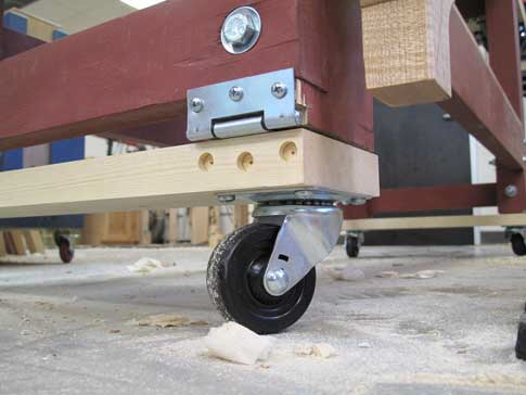 Wondrous Clever Low Tech Way To Put Disappearing Wheels On A Very Gmtry Best Dining Table And Chair Ideas Images Gmtryco
