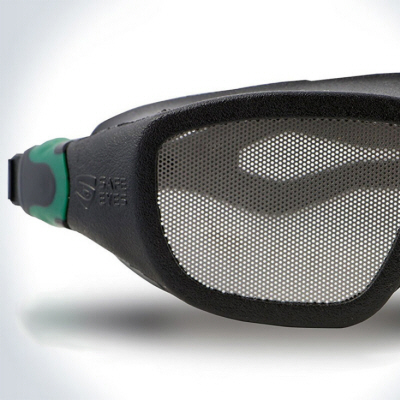 These Scratch-Proof Safety Goggles Have No Lenses, Just Steel Mesh