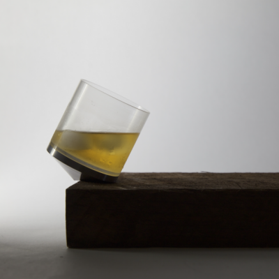 A Minimal Whiskey Glass that Emulates its Intoxicated User