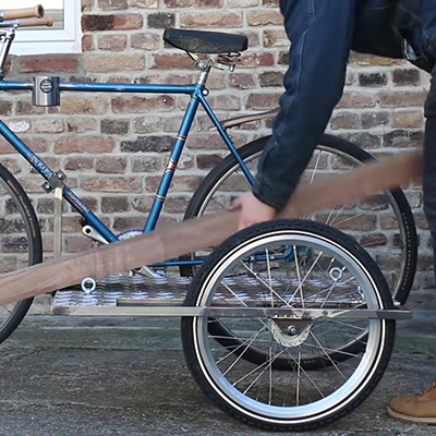 An Upside-Down Drawer Design, a Bicycle Cargo Sidecar