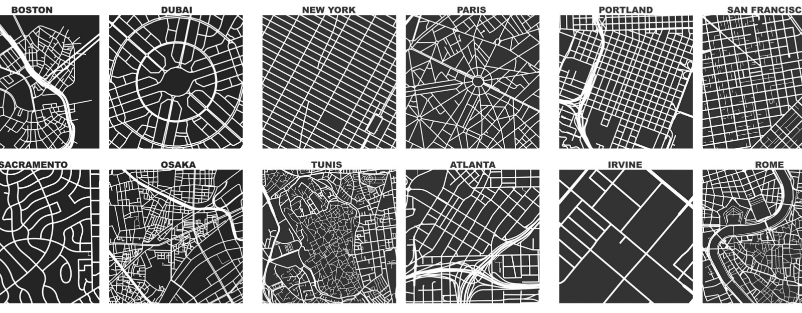 Geoff Boeing's Square-Mile Street Network Visualization Tool - Core77