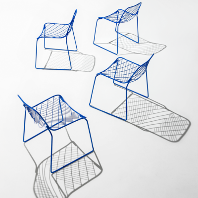 A Mesh Chair with Strategically Placed Support