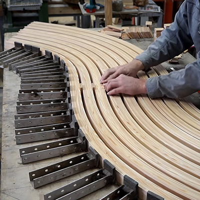 An Impressive Build: Watch This Designer Create This Curved Bench from Scratch