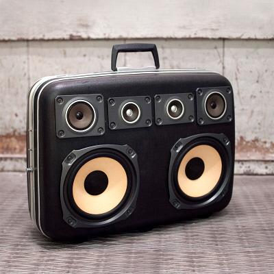 Vintage Suitcases Turned Into Portable Sound Systems