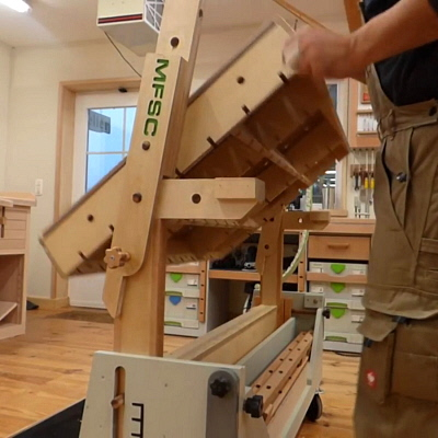 A Furniture Craftsman's Incredible Design for a Transforming, Six-Function Shop Cart