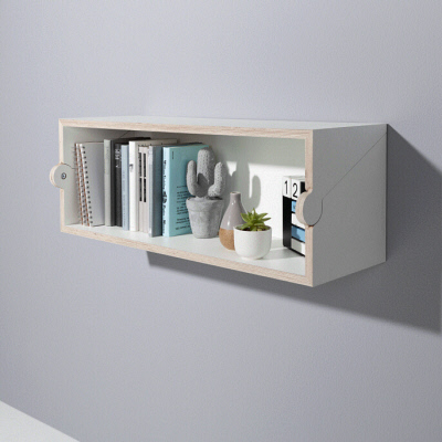 A Shelf that Easily Transforms Into a Temporary Desk