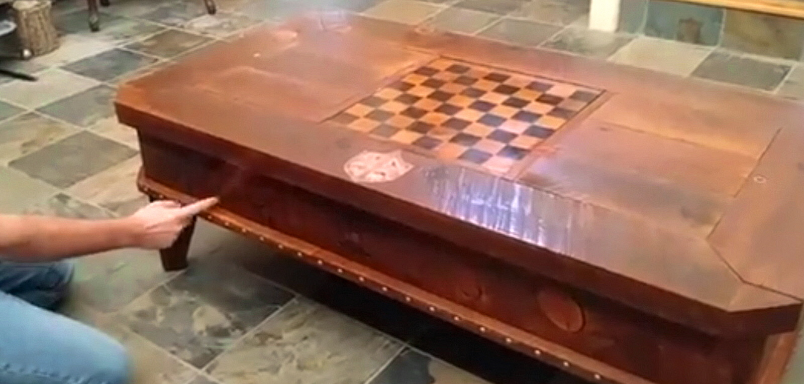 Fun Wizard Themed Mechanical Table With Compartments And Surprises Es Off Harry Potter Fans Core77