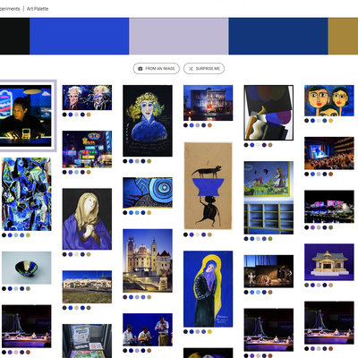 New Google Search Tool for Creatives: Upload an Image, Shows you Artwork With Same Color Palette