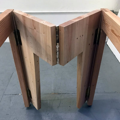 Prototyping an Inexpensive Set of Folding Table Legs Out of Construction Lumber