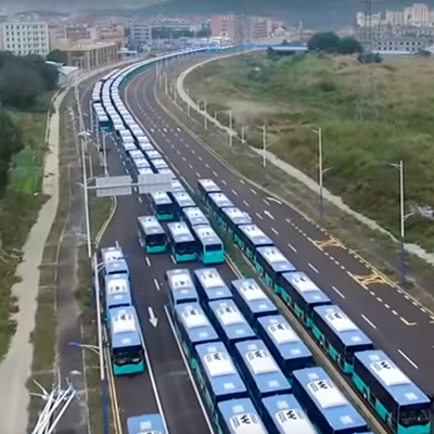 China's Growing Electric Bus Fleet is So Massive It's Impacting the Oil Industry