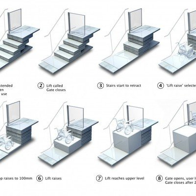 British Company Designs and Builds Staircases That Transform Into Wheelchair Lifts
