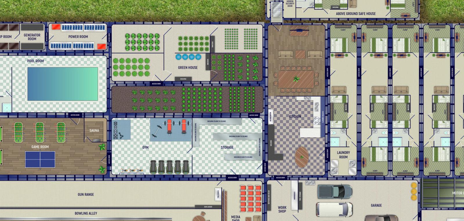 Floorplans Video Walkthrough Of Luxury Underground Bomb Shelters Core77