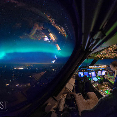 Airline Pilot's Stunning Long-Exposure Photos From the Cockpit