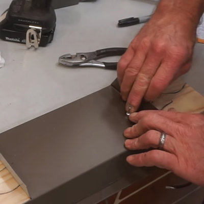 "How to Easily Attach Sheet Metal to Wood: The ""Reverse Rivet"" Trick, No Rivet Gun Necessary"