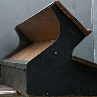 Unusual Vintage Furniture Designs: What was This Funky Bi-Level Desk Used For?