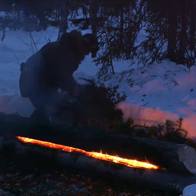 """How to Build a Type of Fire You've Never Seen Before: The """"Long-Log"""" Fire - Core77"""