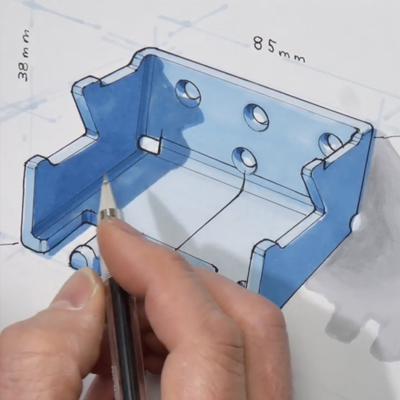 Breaking Down the Industrial Design Marker Rendering Process for the Backpack Hanger