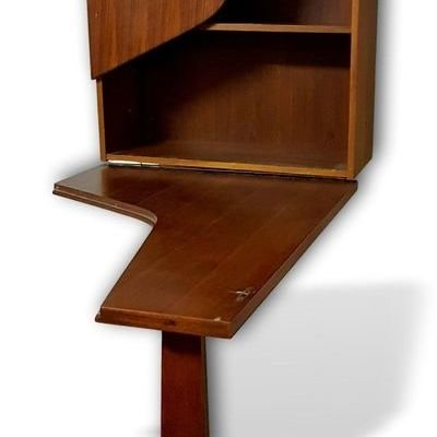 Unusual Vintage Furniture Design: Swedish Wall-Mounted Bar Cabinet