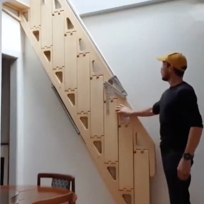 After Living in Tiny NYC Apartment, Australian Industrial Designer Invents Folding Stairs (and Furniture)