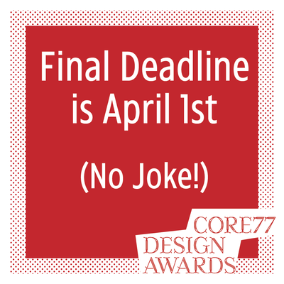 DEADLINE ALERT: The 2019 Core77 Design Awards Final Deadline is Tonight