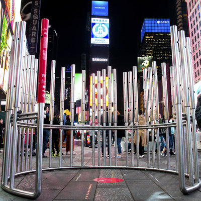 A Student-Designed Urban Instrument Takes Over Times Square During NYCxDesign