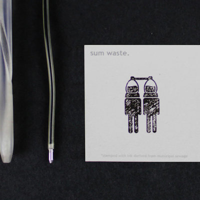 Sum Waste: A Compostable Pen and Ink System Derived from Materials Found in Sewage