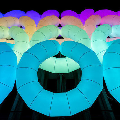 A Giant Inflatable Structure Inspired by Knit Fabrics