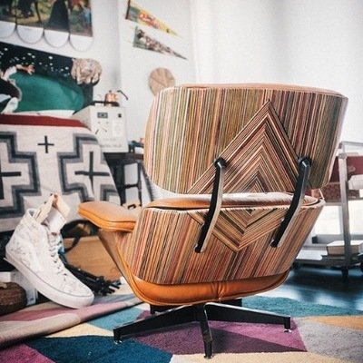 Incredible Eames Lounge Chair Rebuilt With Recycled Skateboards
