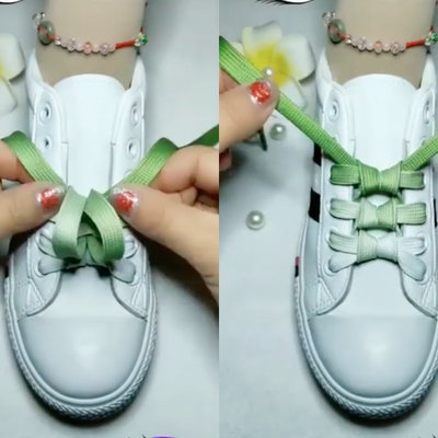 A Series of Creative Shoelace-Tying Methods Goes Viral