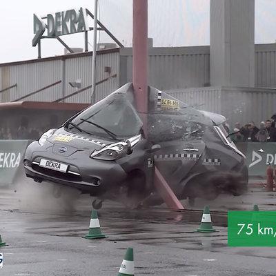 To Prove Electric Car Safety, German Organization DEKRA Runs Gnarly Crash Test