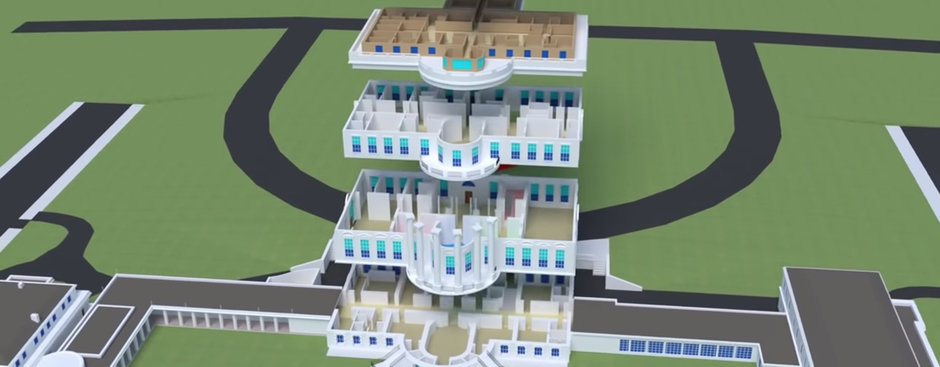 3d White House Cutaways Did You Know The Oval Office Is Not Actually Inside The Main Building Core77