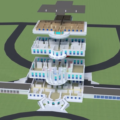 3D White House Cutaways: Did You Know the Oval Office is Not Actually Inside the Main Building? - Core77