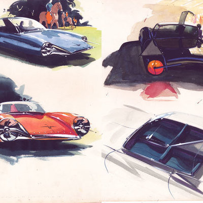 A Look Back at Syd Mead Vehicle Designs