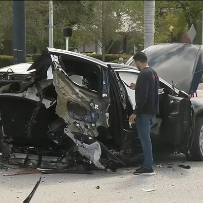 "Another Example of a Car ""Designed to Break in Half"" in a Crash: A Tesla Model X"